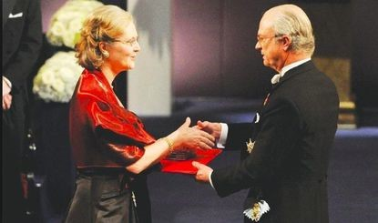 Dr. Blackburn Accepts Nobel Prize