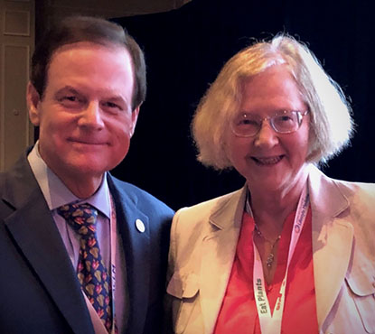 Dr. John Westerdahl with Nobel Laureate and Telomere Researcher Dr. Elizabeth Blackburn